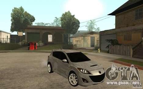 Mazda 3 Mazdaspeed 2010 para GTA San Andreas vista hacia atrás