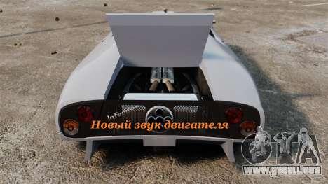 Nuevo motor de sonido Infernus para GTA 4