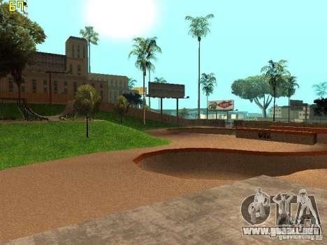 New SkatePark v2 para GTA San Andreas quinta pantalla