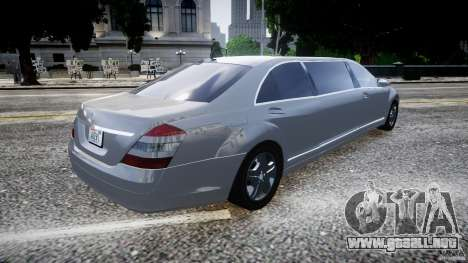 Mercedes-Benz S600 Guard Pullman 2008 para GTA 4 left