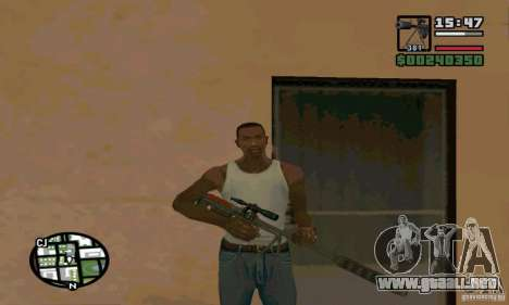 El KSVK (IOS-98) para GTA San Andreas segunda pantalla