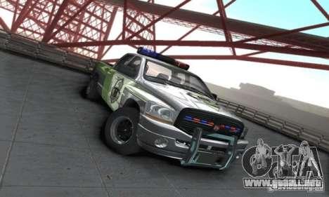 Dodge Ram 1500 POLICE 2008 para GTA San Andreas vista posterior izquierda