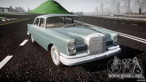 Mercedes-Benz W111 v1.0 para GTA 4 vista interior