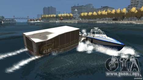Benson boat para GTA 4 vista superior