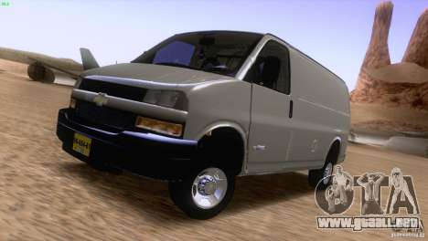 Chevrolet Savana 3500 Cargo Van para GTA San Andreas left