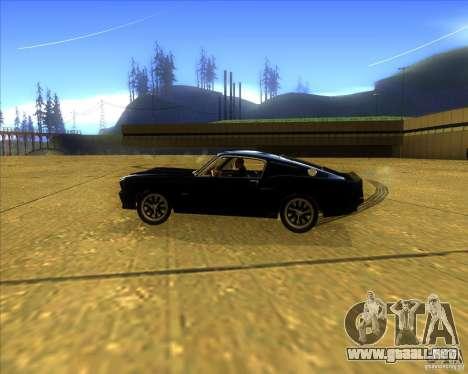 Shelby GT500 Eleanora clone para GTA San Andreas left