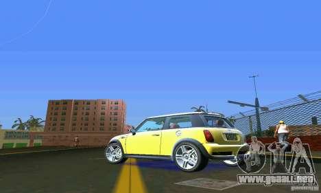 Mini Cooper S para GTA Vice City vista lateral izquierdo