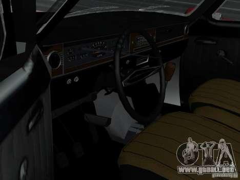 95 VOLGA GAZ-24 para GTA San Andreas vista hacia atrás