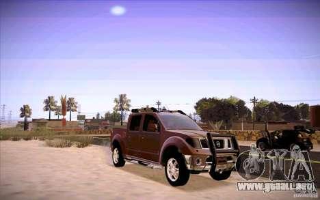 Nissan Fronter para GTA San Andreas left