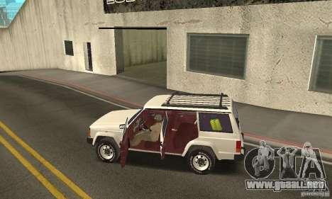 Jeep Grand Cherokee 1986 para vista inferior GTA San Andreas