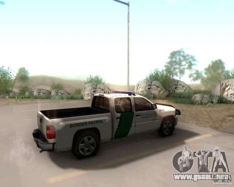 Chevrolet Silverado Police para GTA San Andreas vista posterior izquierda