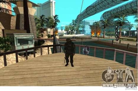 Las fuerzas especiales Berkrut para GTA San Andreas tercera pantalla