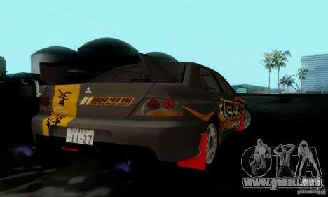 Mitsubishi Lancer Evolution IX para la visión correcta GTA San Andreas
