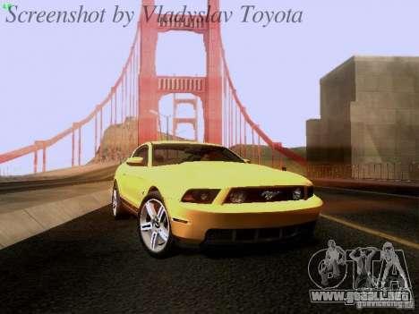 Ford Mustang GT 2011 para GTA San Andreas vista posterior izquierda