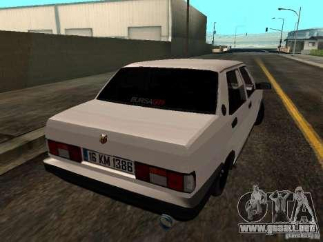 Tofas Sahin DRIFT para la visión correcta GTA San Andreas