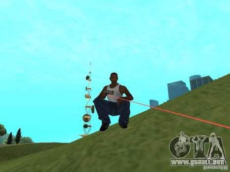 Laser Weapon Pack para GTA San Andreas segunda pantalla