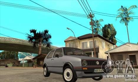 Volkswagen Golf 2 GTI 1984 para GTA San Andreas vista hacia atrás