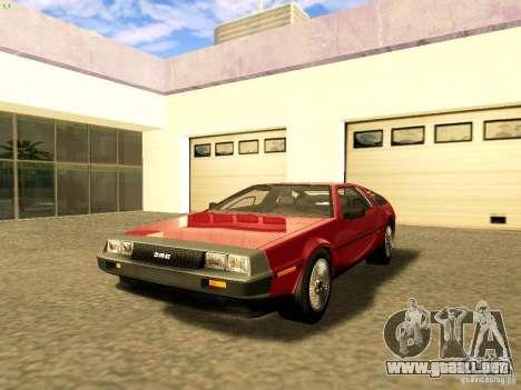 DeLorean DMC-12 V8 para GTA San Andreas