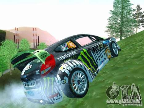 Ford Fiesta Ken Block Dirt 3 para visión interna GTA San Andreas