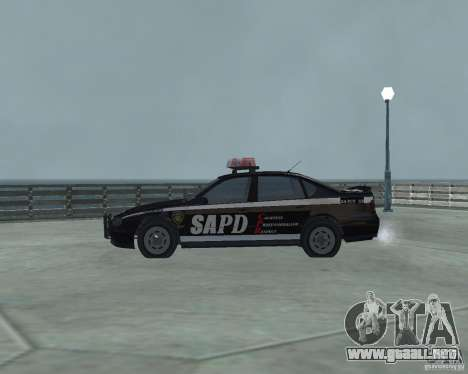 Cop Car Chevrolet para GTA San Andreas left