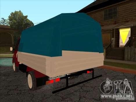 3302 Gacela para GTA San Andreas vista posterior izquierda