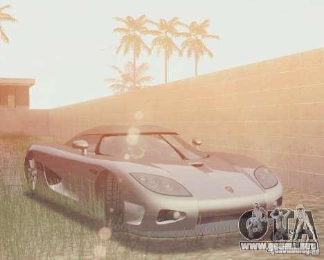 Koenigsegg CCX 2006 v2.0.0 para vista inferior GTA San Andreas