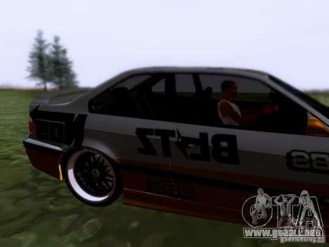 BMW E36 Drift para GTA San Andreas vista posterior izquierda