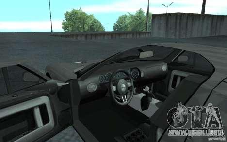Ford GT 40 para GTA San Andreas vista hacia atrás