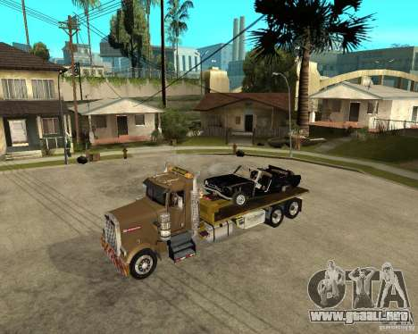 Kenworth W900 SALVAGE TRUCK para vista lateral GTA San Andreas