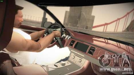 Jaguar XJ 2010 V1.0 para GTA San Andreas vista hacia atrás
