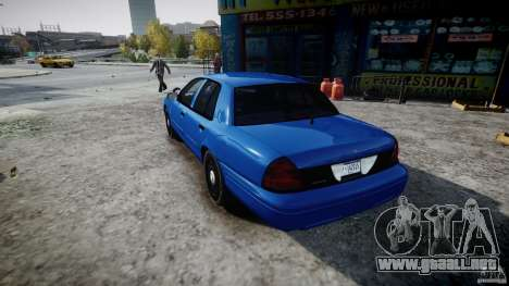 Ford Crown Victoria Detective v4.7 [ELS] para GTA 4 Vista posterior izquierda