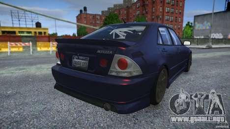 Toyota Altezza para GTA 4 vista hacia atrás