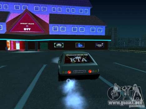 Arrastre VAZ 2109 para la visión correcta GTA San Andreas