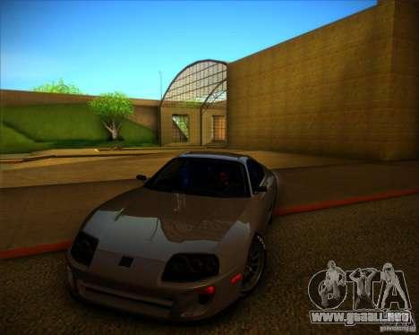 Toyota Supra SHE para vista lateral GTA San Andreas