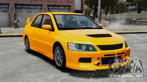 Mitsubishi Lancer Evolution IX MR para GTA 4