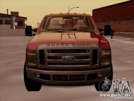 Ford  F350 Super Duty para GTA San Andreas left
