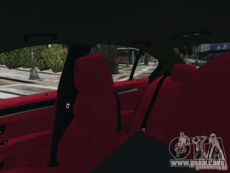 BMW M5 F10 2012 Aige-edit para GTA 4 vista hacia atrás