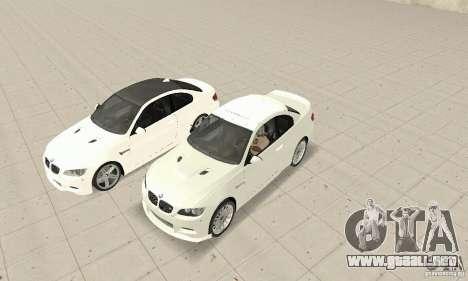 BMW M3 2008 para GTA San Andreas left