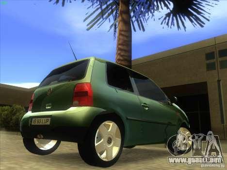 Volkswagen Lupo para GTA San Andreas vista hacia atrás