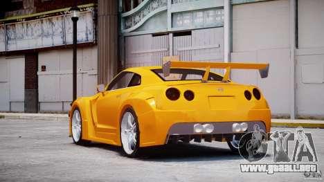 Nissan Skyline R35 GTR para GTA 4 Vista posterior izquierda