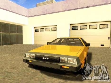 DeLorean DMC-12 V8 para vista lateral GTA San Andreas