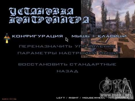 Menú principal-style Stalker para GTA San Andreas tercera pantalla