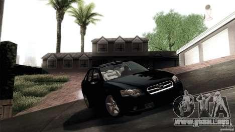 Subaru Legacy B4 3.0R specB para visión interna GTA San Andreas