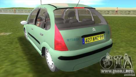 Citroen C3 para GTA Vice City left