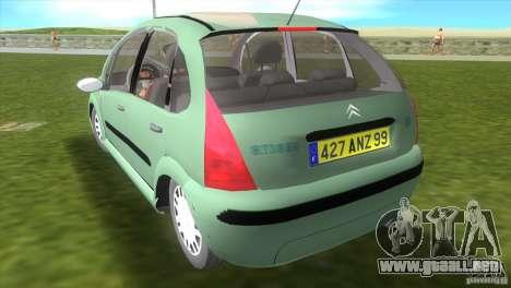 Citroen C3 para GTA Vice City left