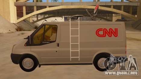 Ford Transit CNN para GTA San Andreas left
