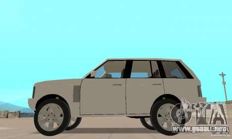Range Rover Vogue 2003 para GTA San Andreas vista posterior izquierda