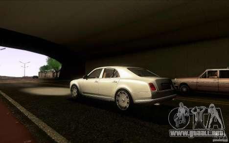 Bentley Mulsanne 2010 v1.0 para GTA San Andreas vista posterior izquierda