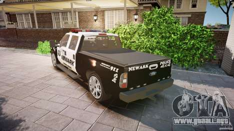Ford F350 Marked [ELS] para GTA 4 Vista posterior izquierda