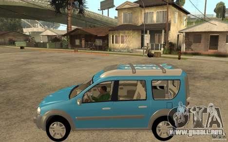 Dacia Logan Steppe Concept para GTA San Andreas left